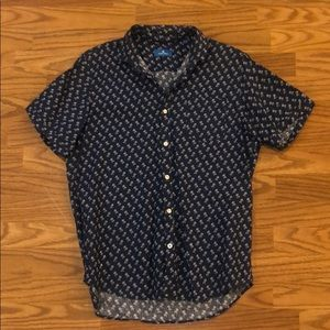 Men's Toscano short sleeve button down. NWOT